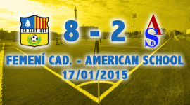 [CRONIQUES] FEMENÍ CAD. – AMERICAN SCHOOL RED 17-01-2015