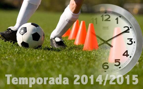 horario de entrenamiento y partidos